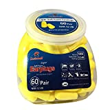 Luiswell 60 Pairs Extreme Soft Foam safety Ear Plugs, 32 dB NRR for maximum hearing protection, suitable for sleeping, shooting, traveling, studying, music, working and sports racing,etc.