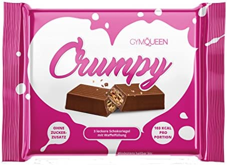 GymQueen Crumpy Waffle Chocolate - 14 Barras: Amazon.es ...