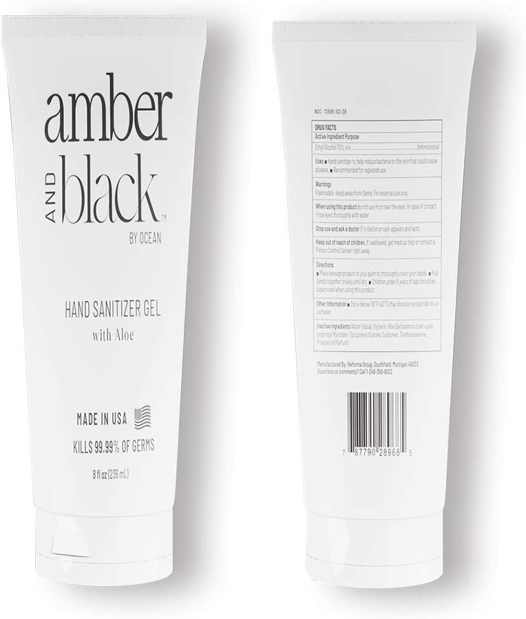 Amber and Black Hand Sanitizer