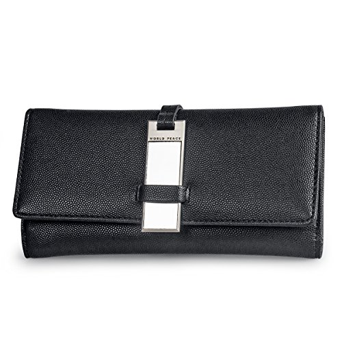 fency-womens-mirror-pu-leather-wallets-long-tri-fold-normcore-elegant-lady-purse-clutch-95-degree-bl