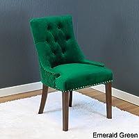 Monsoon Lemele Tufted Velvet Dining Chairs (Set of 2) Emerald Green