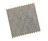 Honeycomb Ceramic Block Square w/ 585 Holes (2 mm Diameter) 75 mm x 75 mm x 12.5 mm Jewelry Soldering Tool