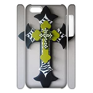 Cell phone 3D Bumper Plastic Case Of Cross For iPhone 5C