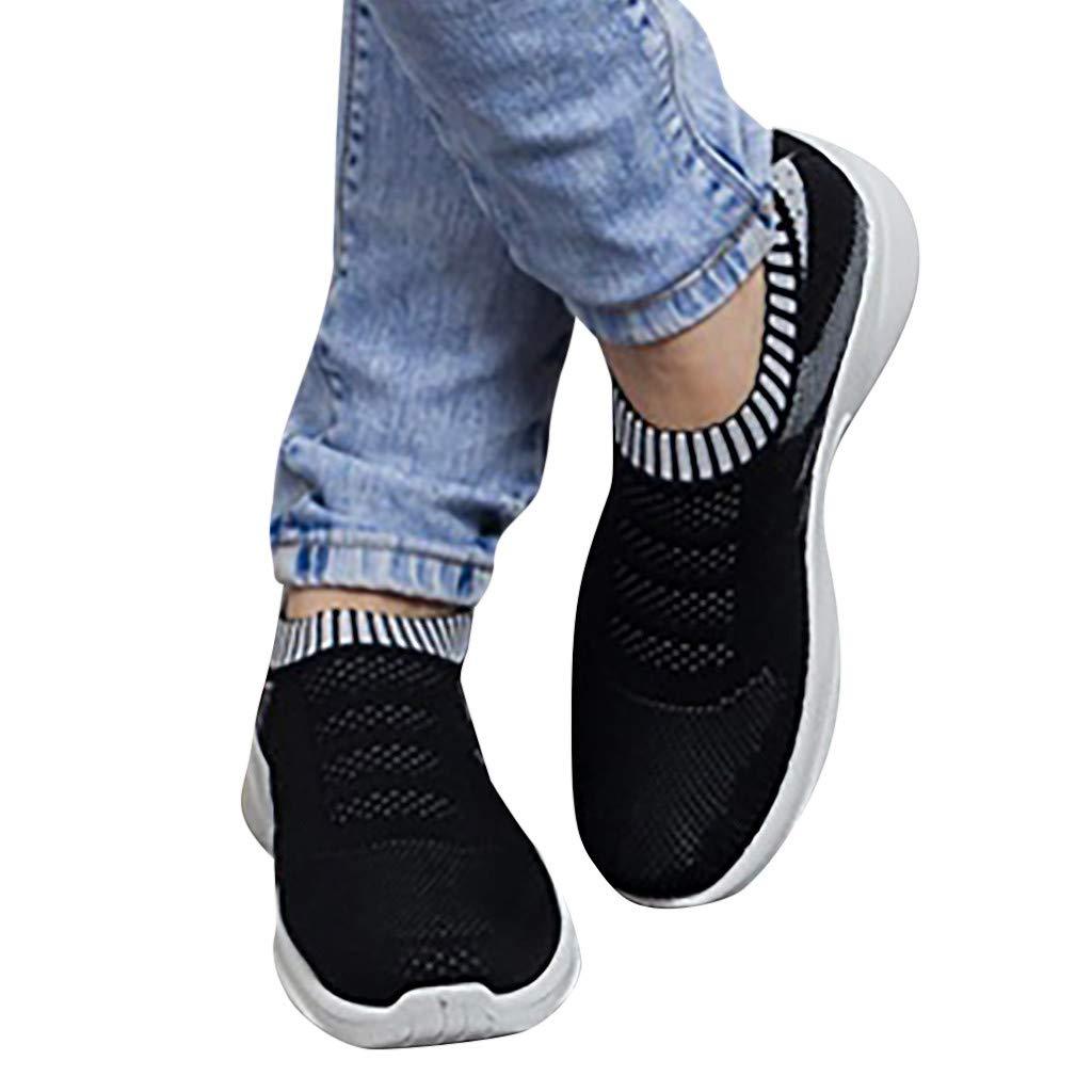 Siswong Chaussette Outdoors Sneakers Jogging Formateurs Compens/ées Chaussure de Running Fitness Sport Marche Air Respirant Mesh Chaussures de Course pour Femmes Baskets Compens/ées