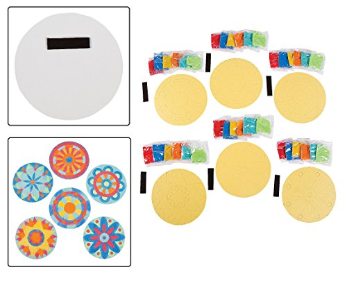 Mandala Sand Pictures Magnets Dozen