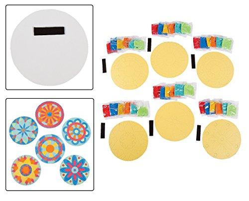Mandala Sand Pictures Magnets Dozen