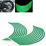 8mm Green Reflective Rim Tape Wheel Stripe Decal Trim For Motorcycle Car 16