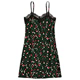 Clothful  Women Dress, Women's Ladies Leopard Print Causal Sleeveless Mini Dress Sling Summer Dress Green