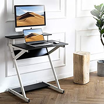 FITUEYES Computer Desk for Small Spaces Study Writing Desk with Shelf Home SOHO Desk CD307002WW