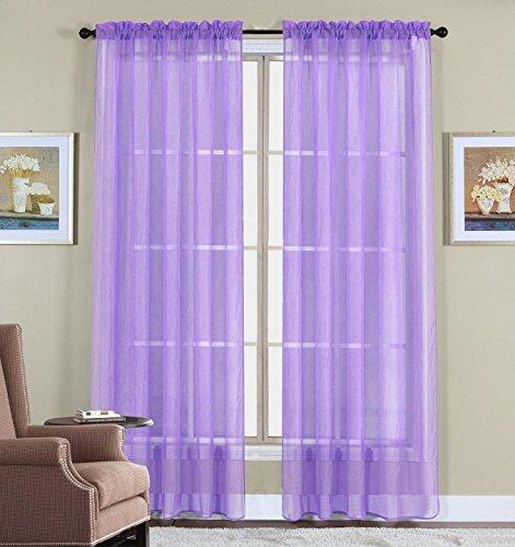 2 Piece Beautiful Sheer Window Elegance Curtains/drape/panel