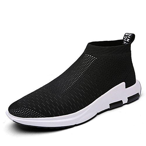 Scarpe Sneakers Nero Sportive Ginnastica SITAILE da Uomo Outdoor Basse 5TxSH