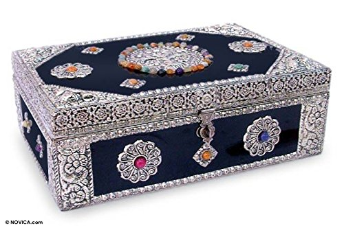 NOVICA 118464 Antique Sophistication' Brass Jewelry Box ()