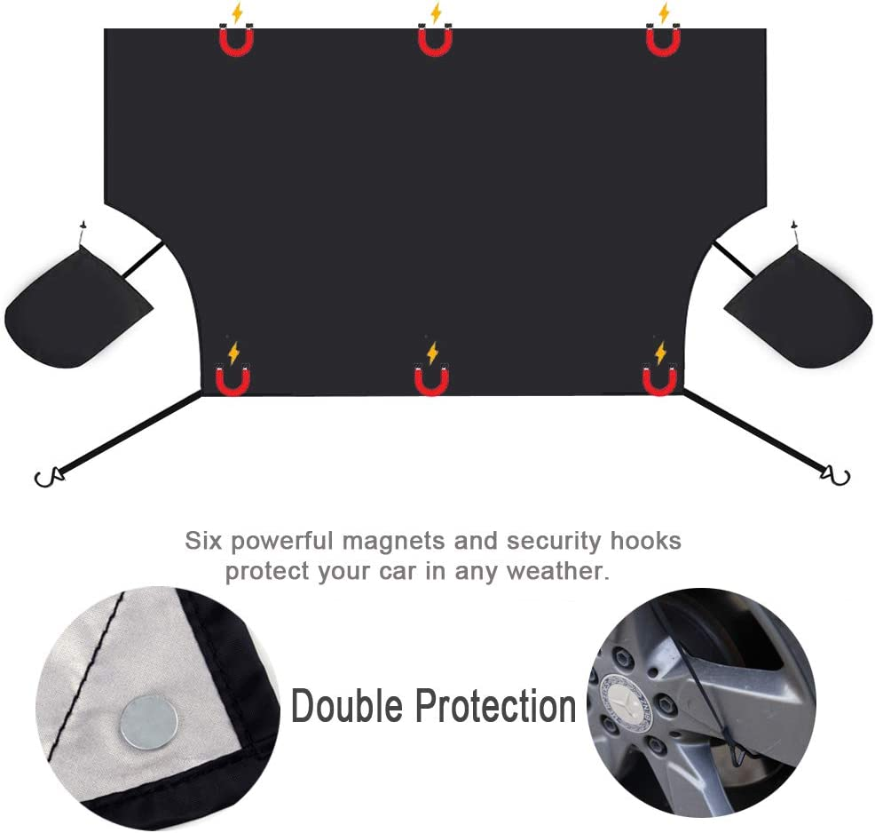 Windshield Snow Cover,Extra Large Magnetic Windscreen Ice Cover ...