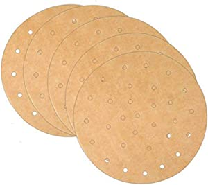 Square Air Fryer Liners, Non-Stick Steamer Mat Perforated Unbleached Parchment Paper Air Fryer Liners Uses for Baking Cookies (7.5, Brown)