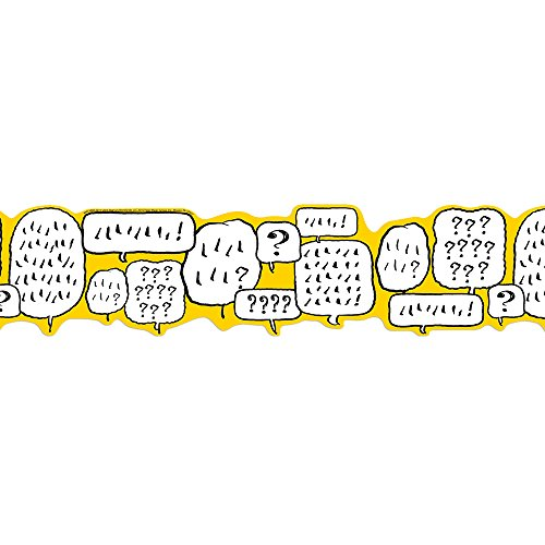 Eureka Peanuts Yellow, White and Black Speech Bubbles Bulletin Board Trim and Classroom Decoration, 12pc, 3.25'' W x 37'' L