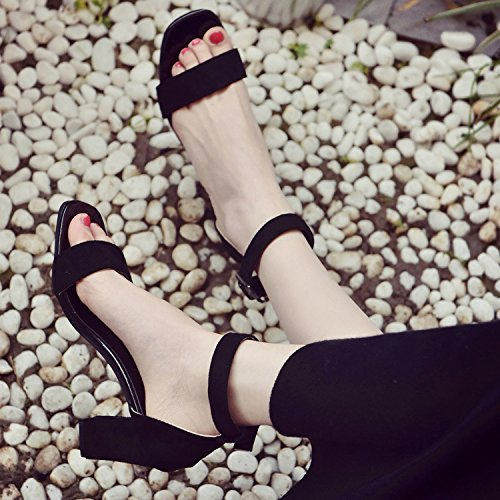 Mode EU40 Fixations Chaussures Chaussures High La Oblongs Heeled Toe Femmes Dew Sandales Rome Femme Avec SHOESHAOGE À AawdPqa