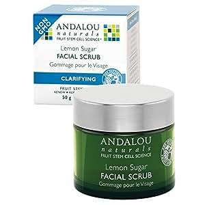 Andalou Naturals Facial Scrub Lemon Sugar Clarifying 1.7 oz (50 g)