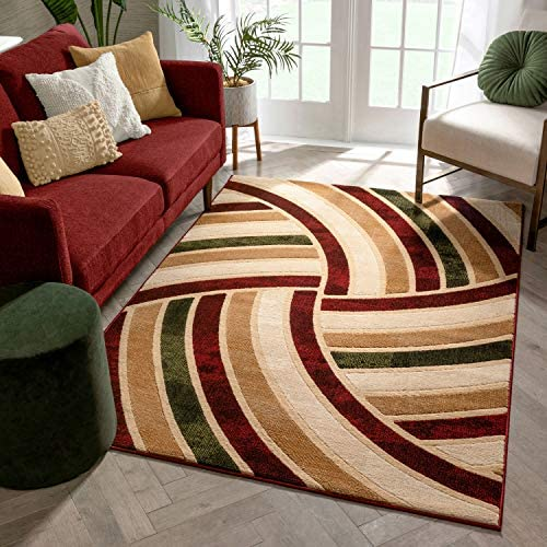 Well Woven Volley Multi-Color Geometric Circles Modern Area Rug 8×10 7'10″x9'10″