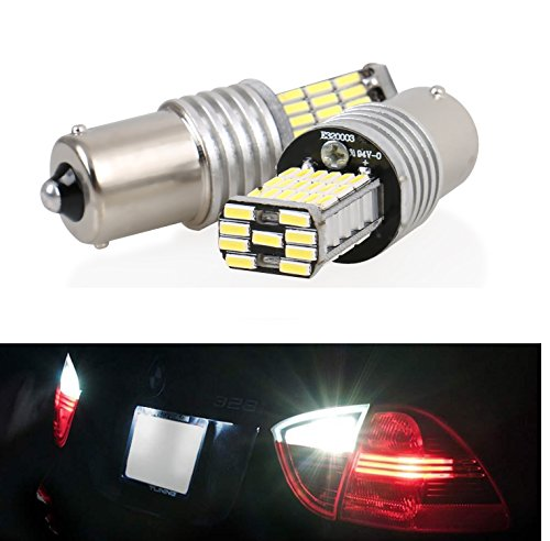 E36 Turn Signal Light - CICMOD 2pcs 1000 lumens 1156 BA15S P21W 4014 45pcs Chipsets LED Bulbs For Turn Signal Backup Reverse Lights, Xenon White 6000K