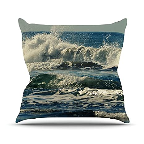 20 By 20 Blue Coastal Kess Inhouse Robin Dickinson Forever Young Throw Pillow Home Kitchen Throw Pillows