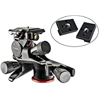 Manfrotto MHXPRO-3WG XPRO Geared Head with Two Calumet Quick Release Plates for the RC2 Rapid Connect Adapter