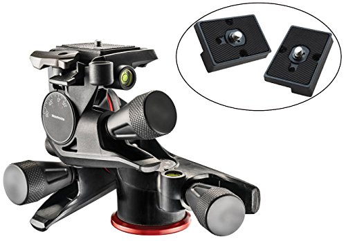 Manfrotto MHXPRO-3WG XPRO Geared Head with Two Calumet Quick Release Plates for the RC2 Rapid Connect Adapter by Manfrotto