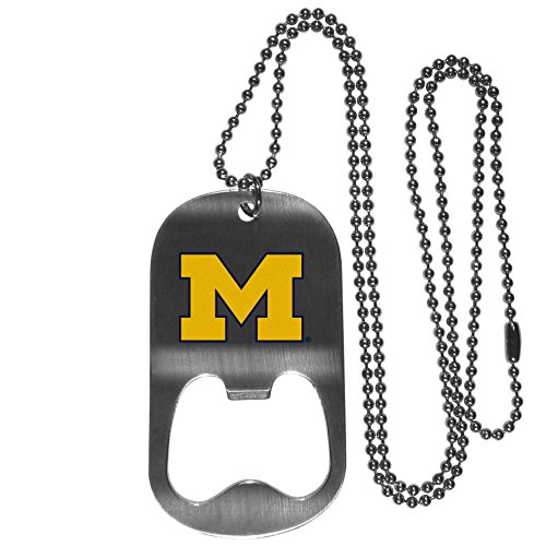 NCAA Michigan Wolverines Bottle Opener Tag Necklace, 20