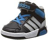 adidas NEO Boys' BB9TIS Inf Sneaker, Black/Light Onix/Solar Blue, 7.5 M US Toddler
