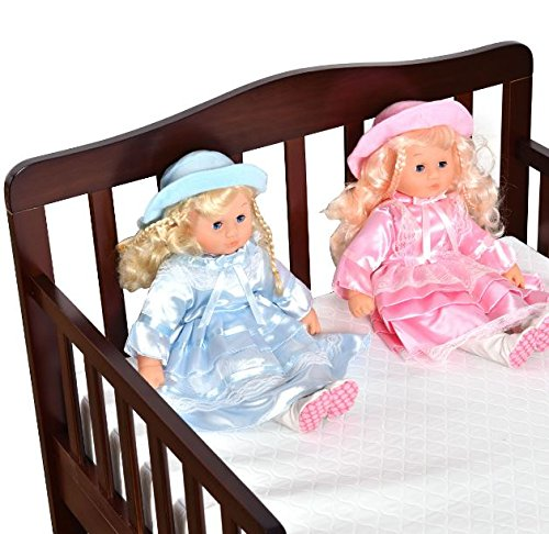 Wood Toddler Kids Baby Bed Safety Rails Espresso Bedroom Furniture + eBook by eXXtra Store (Image #2)