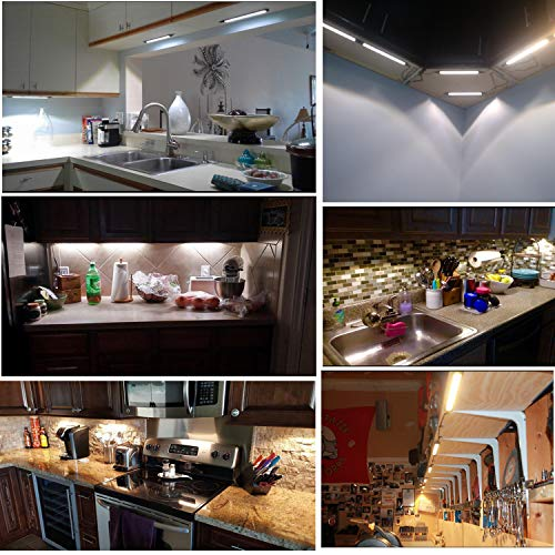 aiboo led under counter light rigid bar kit plug in corded 12v led under cabinet lighting dimmable with switch for counter shelf showcase display
