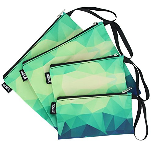 QOGiR Reusable Snack Bags and Sandwich Bags with Handle (Emerald)