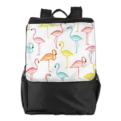 And Camping Colorful Men For Adjustable Shoulder Dayback Backpack Flamingos Women School HSVCUY Storage Outdoors Strap Travel Personalized xwnTZqnYIR