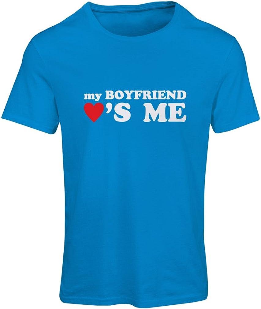 Camiseta Mujer Mi Novio me ama! Novia Regalos para San Valentin