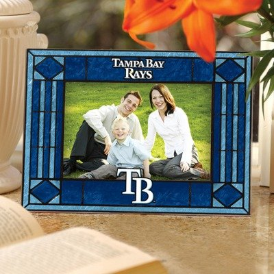 Memory Company MLB Tampa Bay Rays Art Glass Horizontal Frame, One Size, Multicolor