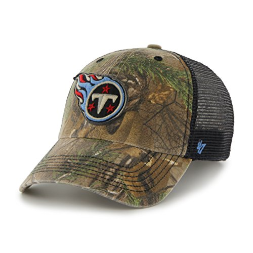 (NFL Tennessee Titans '47 Huntsman Closer Camo Mesh Stretch Fit Hat, One Size, Realtree Camouflage)