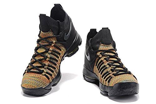 Nike Mens Zoom Kd 9 Scarpa Da Basket, Taglia 11.5 Us Multi-colore / Nero-lupo-grigio