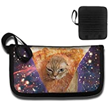 KBLXII BAG Galaxy Funny Pizza Cat Printing Multi-function Card Package Travel Document Receipt And Passport Bag