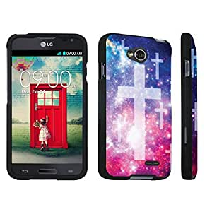 DuroCase ? LG Optimus L70 / LG Optimus Exceed 2 Hard Case Black - (Space Cross)