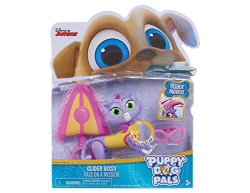 Puppy Dog Pals Light Mission-Hissy with Glider and Glasses, Multicolor - Jet Powered Glider