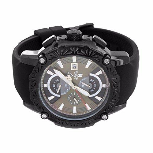 All Black Aqua Master Jojo Jojino Watch For Men Sale Techno Bling Silicone Band Diamond Watch