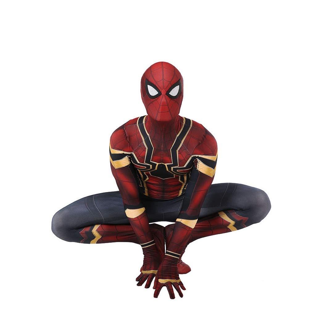 Bleu Foncé S(150-160cm) CSCLO Iron Spider-Man Cosplay Collants élastiques Spectacle Adulte Spectacle de cinéma Spectacle Costume Accessoires DéguiseHommest