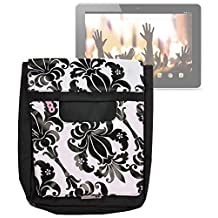 DURAGADGET Exclusive 'Lily' Print Messenger & Shoulder Bag in Black and White for the Acer Iconia A1, Iconia A3, Iconia B1, Iconia A1-830 & Iconia Tab A500