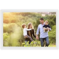 14 inch Digital Photo Frame 1080p and Video with a Motion Sensor and 16GB of Internal Memory - White