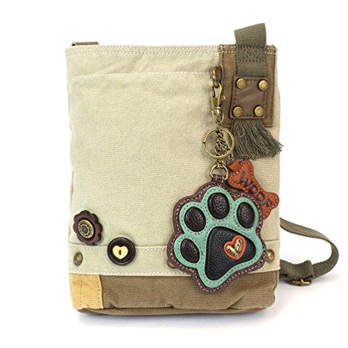 - Chala Paw Print Patch Crossbody Bag, Sand