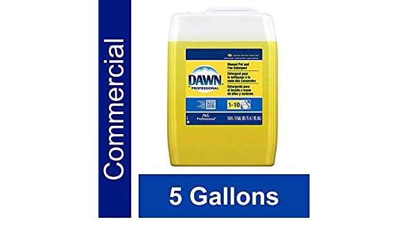 Amazon.com: Dishwashing Liquid Soap Detergent by Dawn Professional, Bulk Degreaser Removes Greasy Foods from Pots, Pans and Dishes in Commercial Restaurant ...