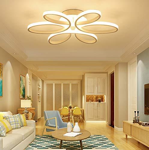 CITRA 6 Light Curvy Modern LED Chandelier for Dining Living Room Office Lamp (M6339) - Warm White