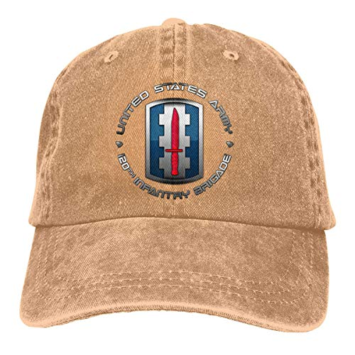 120 Infantry Brigade SSI Vintage Baseball Cap Trucker Hat for Men and Women