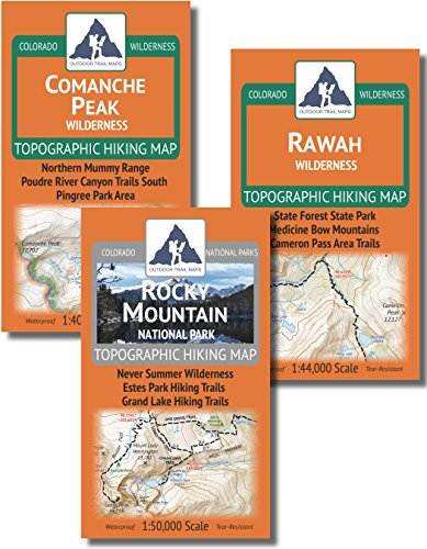 Ft Collins Area Backpacking Map Pack - Comanche Peak, Rawah, Rocky Mountain National Park by Outdoor Trail Maps LLC