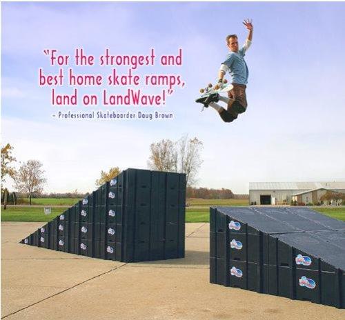 Landwave Single Skateboard Ramp
