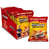 FITCRUNCH Protein Puffs | Designed by Robert Irvine | Keto-Friendly High Protein Puff Snacks | 2g of Sugar, NON-GMO, Gluten Free & 20g of Protein (8 Bags) (Barbecue)
